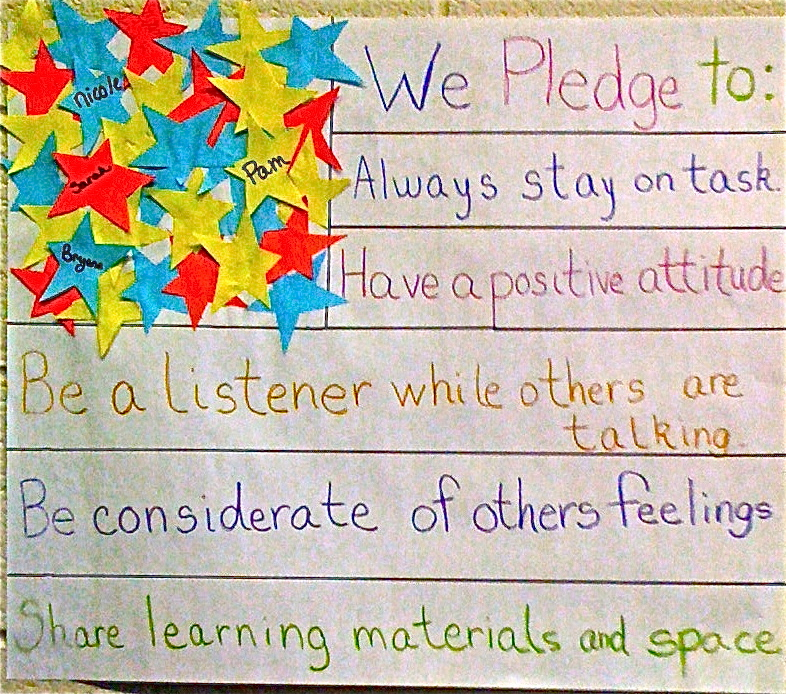 Classroom Pledge Ideas ~ Beginning the school year it s about connections not