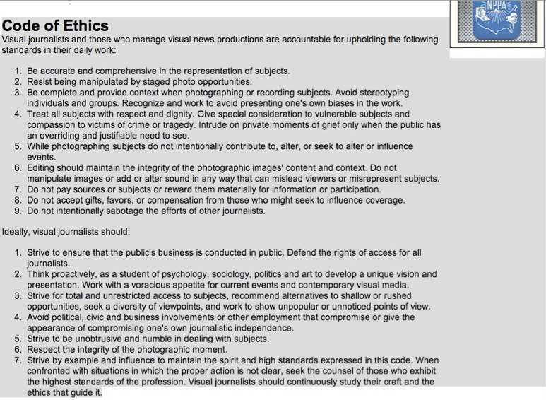 code of ethics for social work research papers
