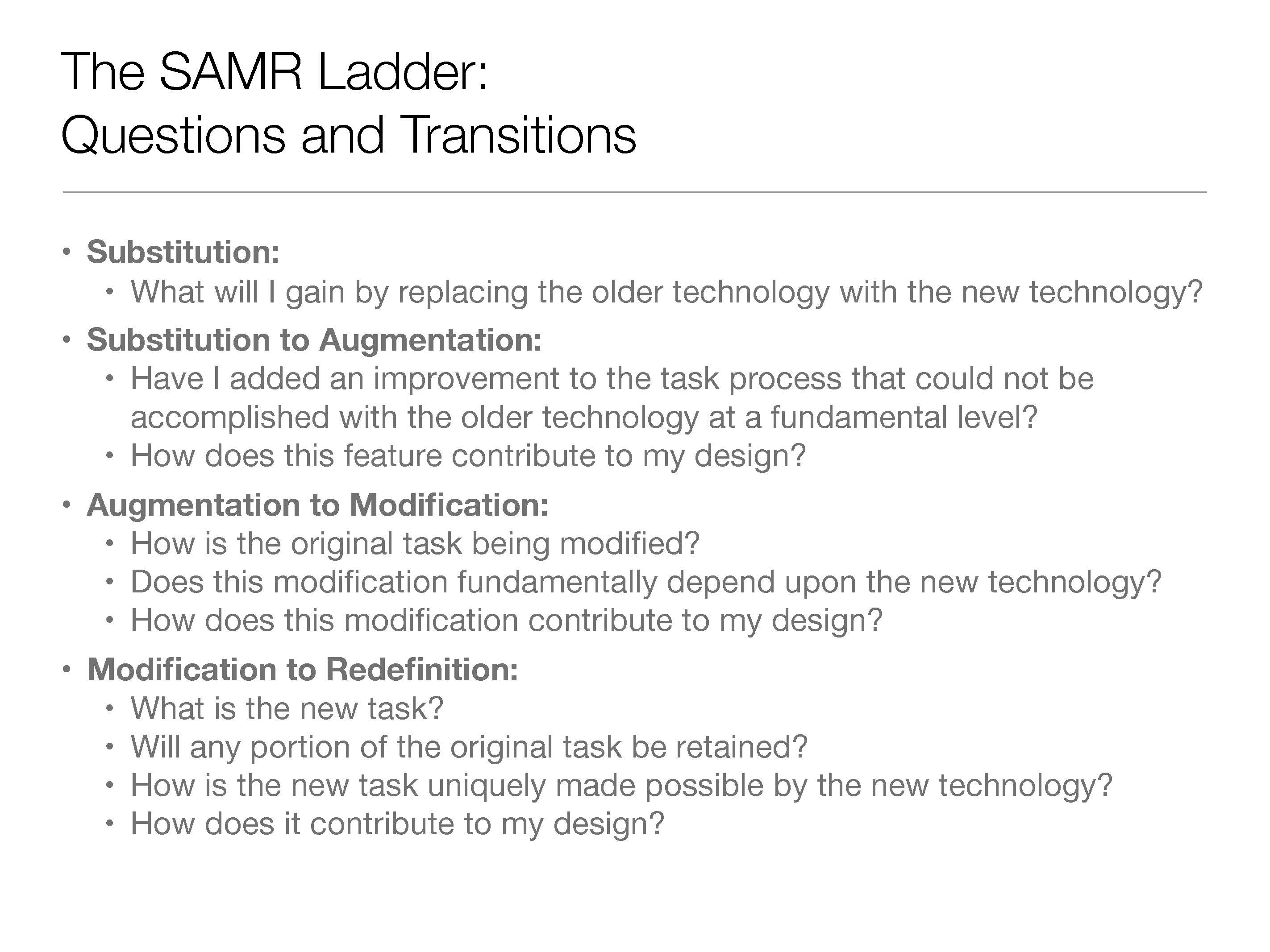 Samr Model Of Technology IntegrationAs By Adinasullivan Via