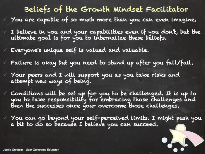 the meaning of having a growth mindset In addition, there have been tests administered by ls blackwell to see if the fixed mindset of women can be changed to a growth mindset (boaler, 2013) this is the mindset in which boaler and dweck believe people can gain knowledge.