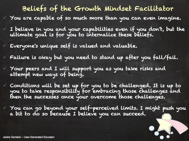 facilitating growth mindset