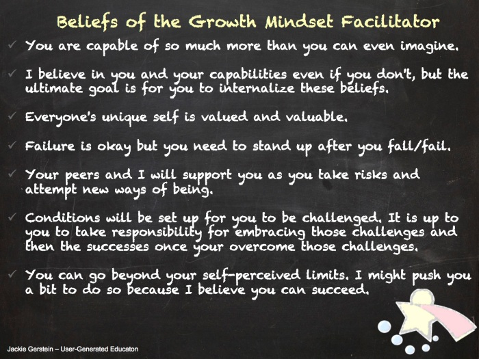 facilitating growth mindset