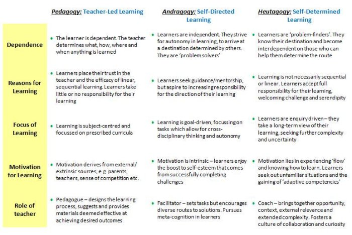 what is andragogy and its effects Recognition of andragogy and its assumptions regarding the adult student can provide the key to free the pedagogically imprisoned field of management education topic) through the use of role playing.