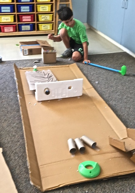 Cardboard Creations A Maker Education Camp User